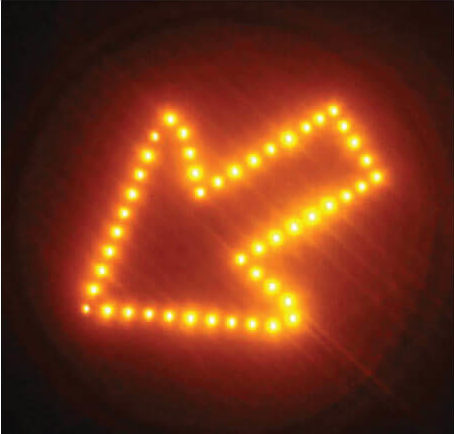Flashing LED Cluster Arrow Sign