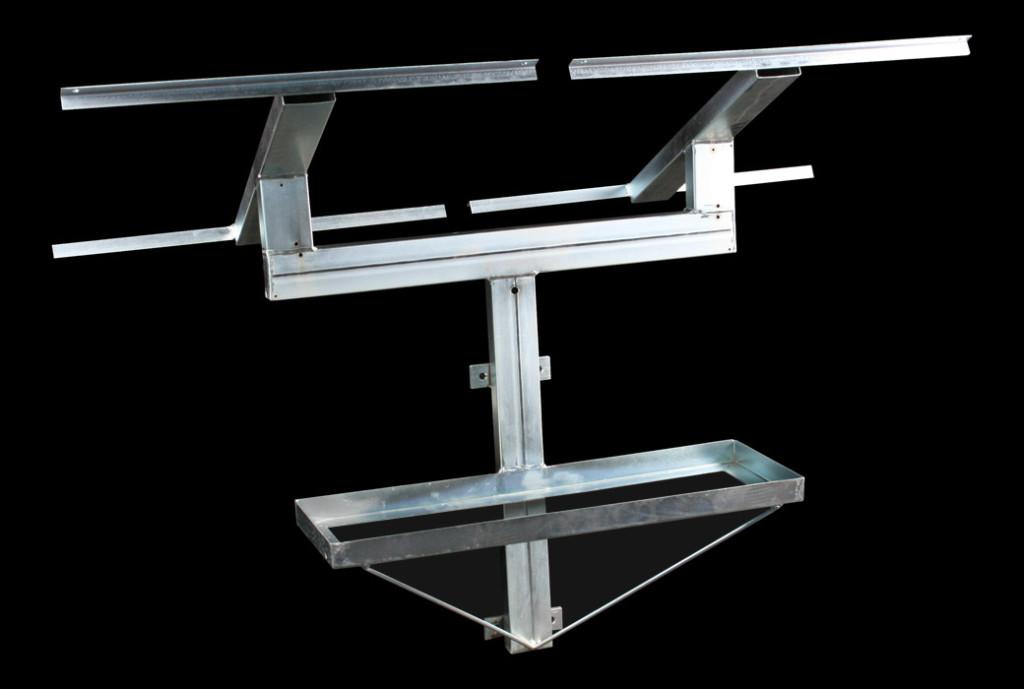 Dual Solar Panel & Battery Boxes Bracket
