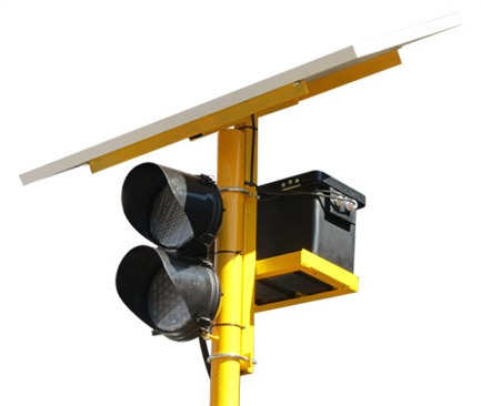 Portable Solar Powered Traffic Light top