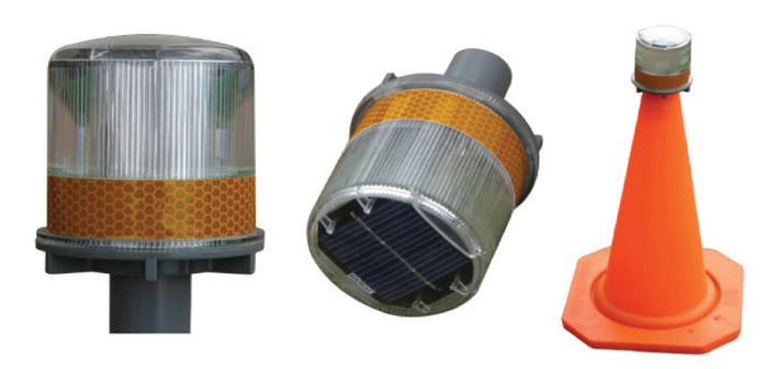 Solar Powered LED Road Cone Light
